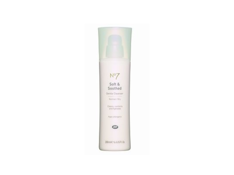 No 7 Soft & Soothed Gentle Cleanser, Normal/Dry, 6.6 fl oz