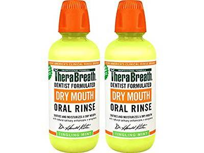 TheraBreath Dry Mouth Dentist Formulated Oral Rinse, Tingling Mint Flavor, 16 ounce