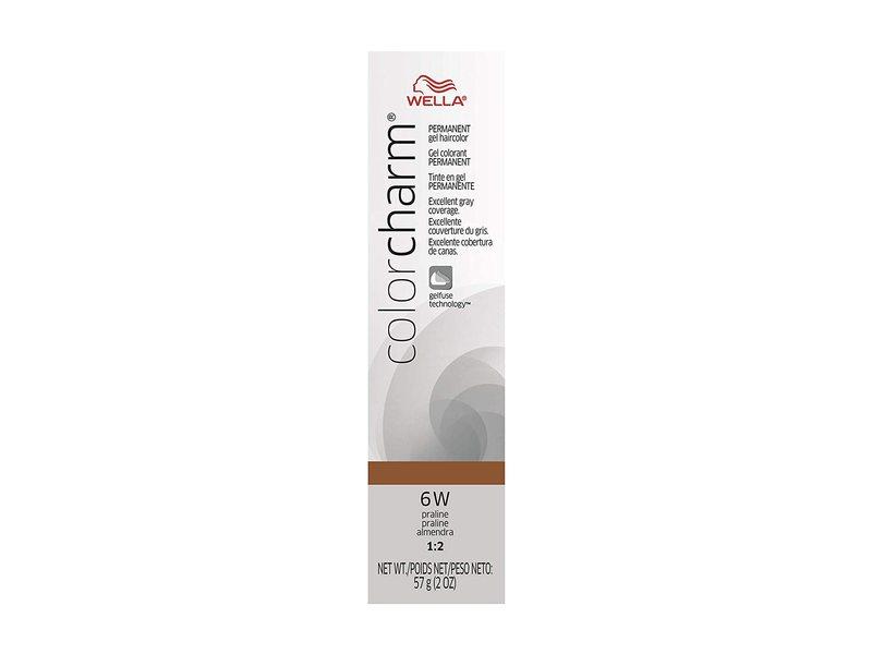 Wella Color Charm Permanent Gel, 6W Praline, 2 oz/57 g