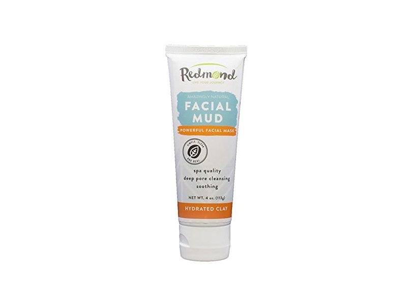 Redmond Bentonite Hydrated Clay Facial Mud Mask, 4 Ounce Tube