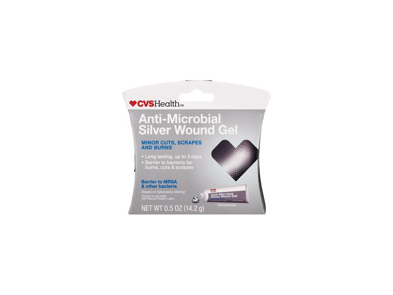 Cvs Health Anti Microbial Silver Wound Gel 05 Oz Ingredients And
