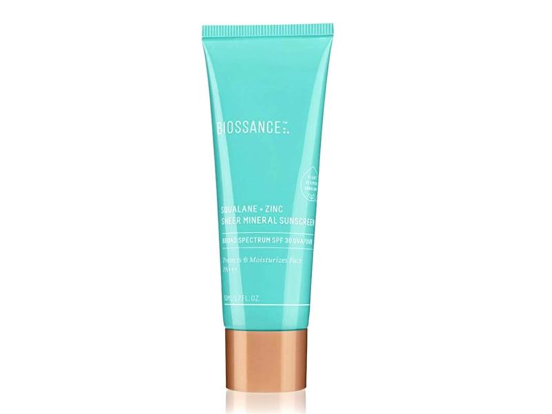 Biossance Squalane + Zinc Sheer Mineral Sunscreen, SPF 30, 1.6 oz