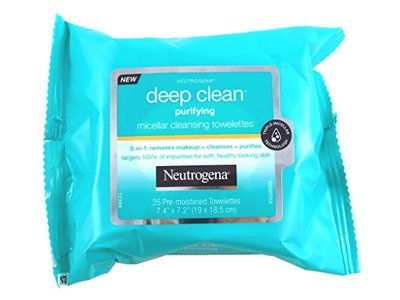 Neutrogena Deep Clean Purify Micellar Towelettes, 25 ct (Pack of 6) - Image 1