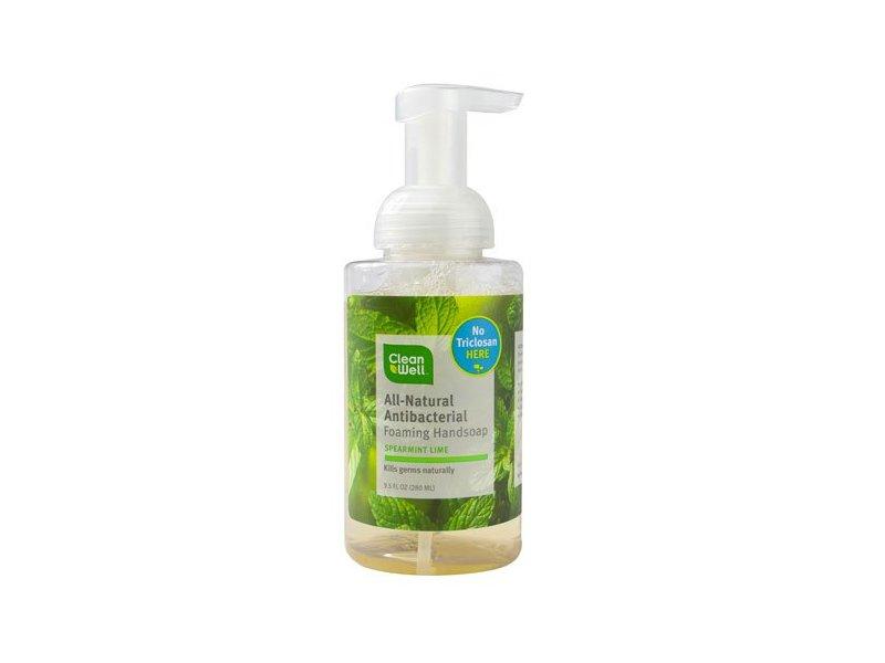 Cleanwell Foam Hand Wash, Spearmint Lime, 9.5 fl oz