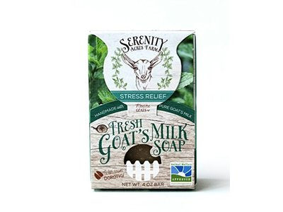 SerenityGoats Stress Relief Goat Milk Soap, 4 oz