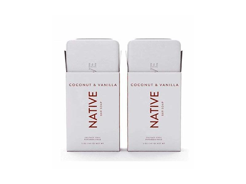 Native Coconut & Vanilla Bar Soap - 5oz - 2 PACK