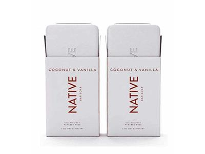 Native Coconut & Vanilla Bar Soap - 5oz - 2 PACK