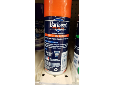 Barbasol Shave Cream 7 Ounce (Sensitive Skin, Pack of 3) - Image 4