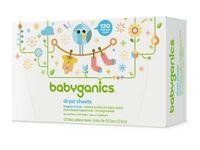 BabyGanics Dryer Sheets, Fragrance Free, 120 ct - Image 2