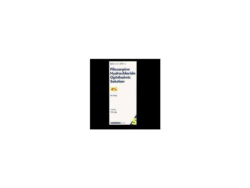 Pilocarpine Hydrochloride Opthalmic Solution 4%, 15 mL, Sandoz