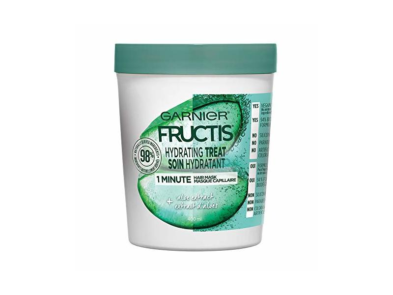 Garnier Fructis Hydrating Treat Aloe Hair Mask, 13.5 fl oz