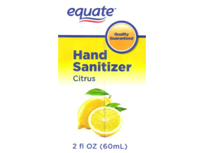 Equate Hand Sanitizer, Citrus, 2 fl oz Ingredients and Reviews