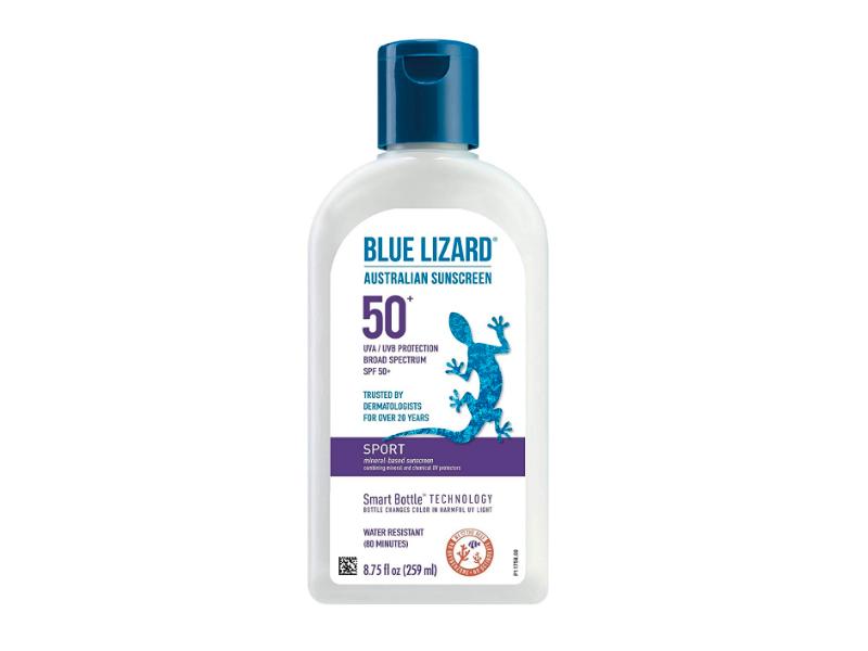 Blue Lizard Australian Sunscreen Sport Mineral-Based Lotion, SPF 50, 8.75 fl oz/259 ml