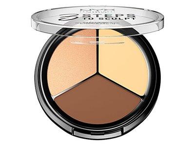 NYX Cosmetics 3 Steps To Sculpt Face Sculpting Palette Light - Image 5
