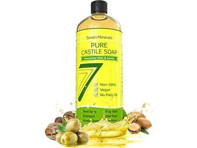 Seven Minerals Pure Castile Soap Unscented & Gentle 33.8 oz.