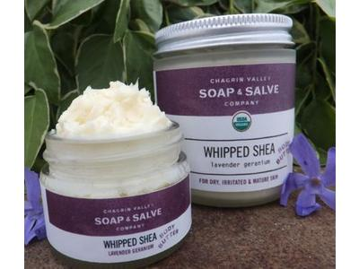 Chagrin Valley Soap & Salve Company Creamy Shea Whipped Body Butter, Lavender Rosemary Scent, 4 oz