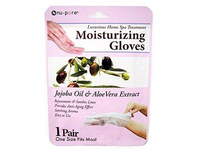 Nu-Pore Luxurious Home Spa Treatment Moisturizing Gloves, Jojoba Oil & Aloe Vera, 1 ct