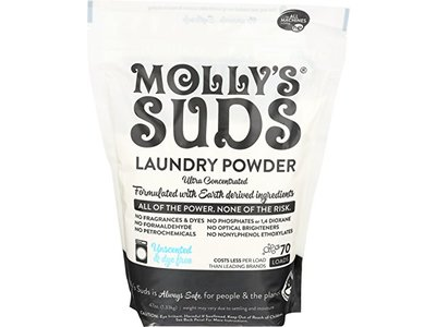 Molly's Suds Unscented Laundry Detergent Powder, 70 loads,