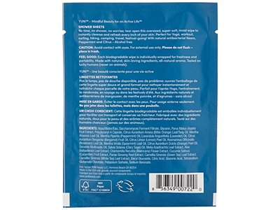 YUNI Beauty Shower Sheets Large Body Wipes, 12 Count - Image 6