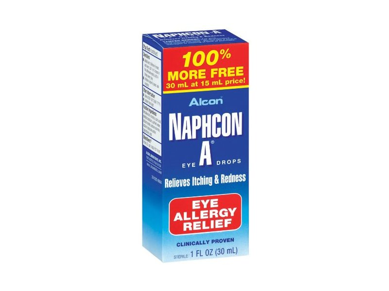 Alcon Naphcon Eye Drops, Allergy Relief, 30 ml
