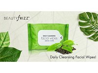 BeautyFrizz Daily Cleansing Facial Wipes, Green Tea, 25 ct (Pack of 2) - Image 11