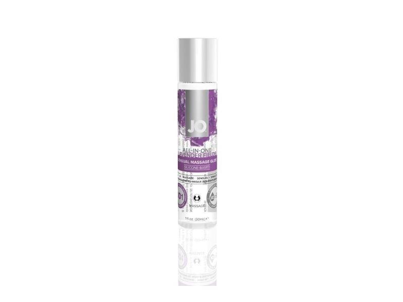 System Jo All-In-One Sensual Massage Glide, Lavender Fields, 1 fl oz