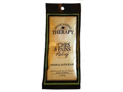 The Village Company Village Naturals Therapy Aches & Pains Relief Mineral Bath Soak, Eucalyptus & Menthol, 2 oz
