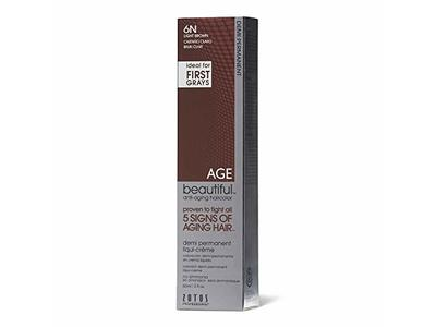 AGEbeautiful Demi Permanent Liqui Creme Hair Color, 6N Light Brown