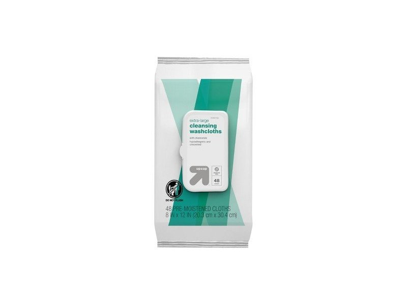 Up & Up Extra Large Cleansing Cloths, 48 ct