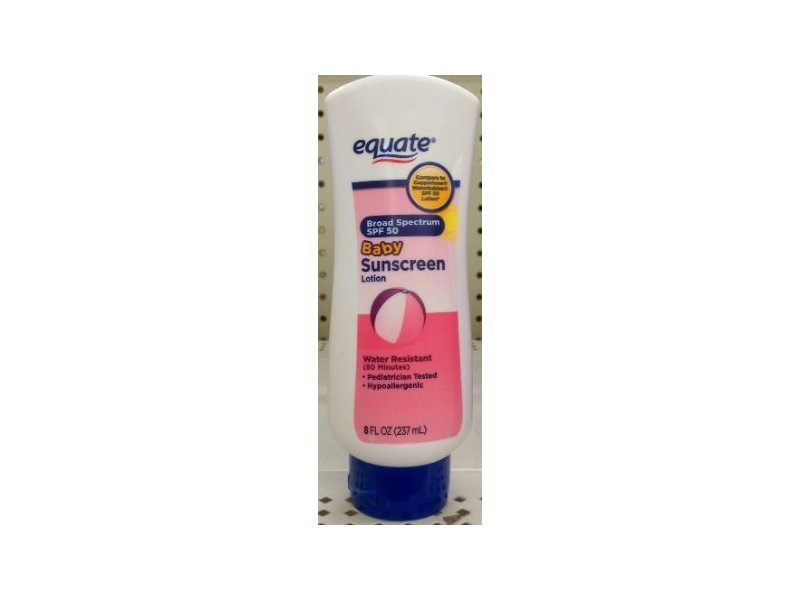 Equate Baby Sunscreen, SPF 50, 8 fl oz