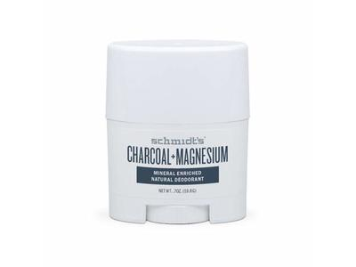 Schmidt's Charcoal Magnesium Mineral Enriched Natural Deodorant, 0.7 oz