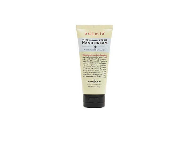 Adamia Therapeutic Repair Hand Cream, Macadamia Oil, 3 oz