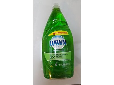 Dawn Ultra Antibacterial Hand Soap/Dishwashing Liquid, Apple Blossom, 40 fl oz - Image 3