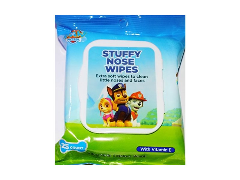 Paw Patrol Stuffy Nose Wipes with Vitamin E