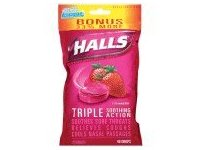 Halls Strawberry Bonus Coughs Drops, Pack of 3 - Image 3