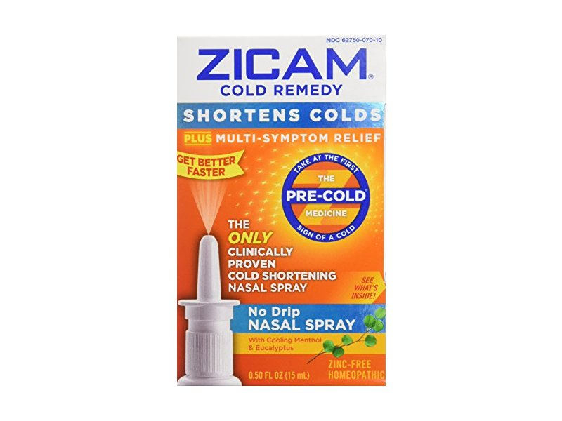 Zicam Cold Remedy No Drip Nasal Spray, 0.5 fl oz/15 mL