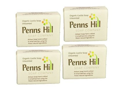 Penns Hill Organic Olive Oil Bar Soap, Unscented, 5 oz - Image 1