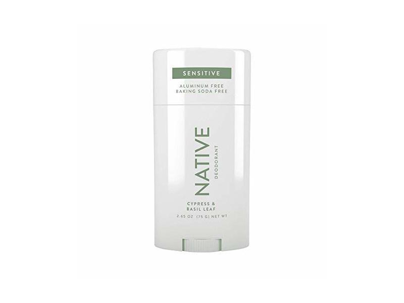 Natural Sensitive Native Cypress & Basil Leaf Aluminum Free Deodorant, 2.65 oz