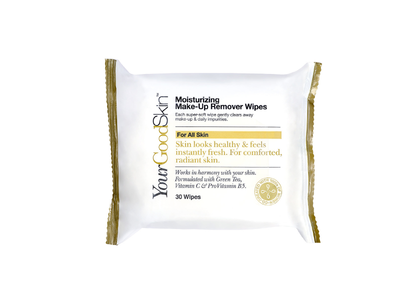 YourGoodSkin Moisturizing Make-up Remover Wipes, 30 Wipes