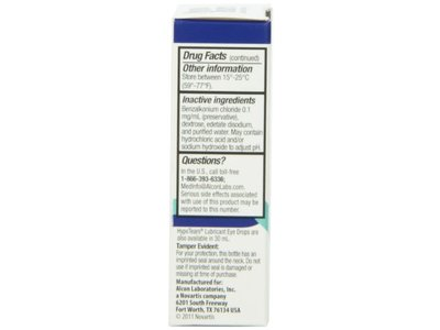 Hypo Tears Lubricant Eye Drops, Sterile - Image 7