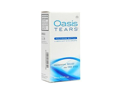 Oasis Tears Lubricant Multidose Eye Drops Relief For Dry Eyes, 0.3 fl oz (Pack of 2) - Image 1