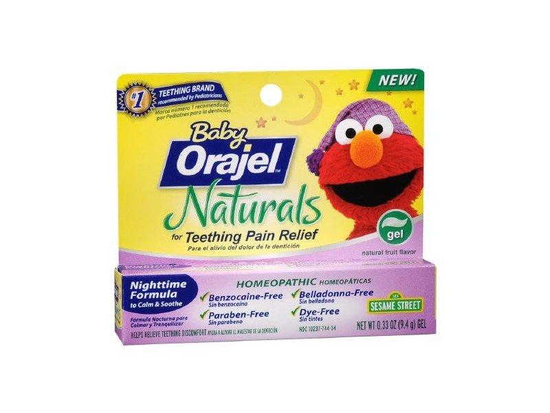 Baby Orajel Naturals Nighttime Teething Gel Fruit