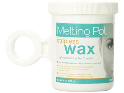 Melting Pot Microwavable Stripless Wax with Tea Tree Oil, 8 Ounce