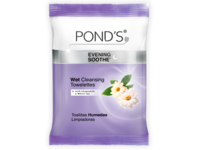Pond's Wet Cleansing Towelettes, Evening Soothe With Chamomile & White Tea, Unilever - Image 1