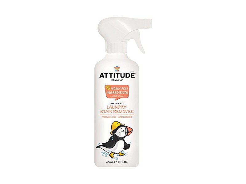 ATTITUDE Little Ones Laundry Stain Remover, Fragrance Free, 16 Fluid Ounce
