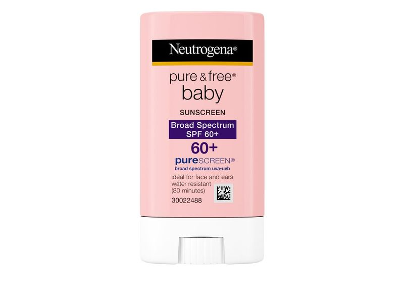 Neutrogena Pure & Free Baby Sunscreen Stick, SPF 60, 0.47 oz
