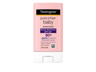 Neutrogena Pure & Free Baby Sunscreen Stick, SPF 60, 0.47 oz - Image 1