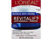 L'Oreal Paris Skin Care Revitalift Anti Wrinkle and Firming Night Cream Bonus Pack, 2.55 Ounce - Image 4