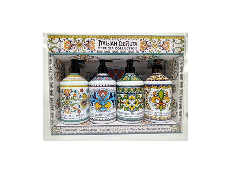 Home & Body Company Italian Deruta Perugia Hand Soap Collection, 21.5 fl oz/636 mL Each, Pack Of 4
