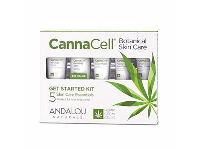 Andalou Naturals CannaCell Botanical Get Started Kit, 5 ct
